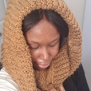 H&M Camel Knitted Infinity Loop Scarf